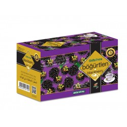 Blackberry Tea, Turkish Mixed Herbal Tea with Blackberry Aroma, 20 bags, 40 gr