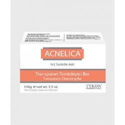ACNELICA Transparent Cleansing Soap Bar, Salicylic Acid 2%, Dermatologically Tested, Acne, Blackhead, and Hyperpigmentation Soap Bar, 100 gr, e net wt. 3.5 oz