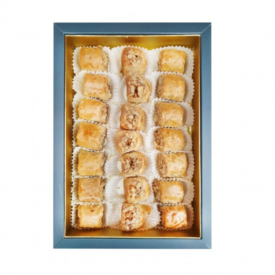 Turkish sweets, Turkish Super Baklava Fingers, Long-Lasting Dry Baklava Fingers with Walnut 425 gr