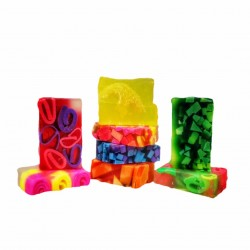 Bubble Gum soap, Handmade, 100 gr, a box with 5 pieces