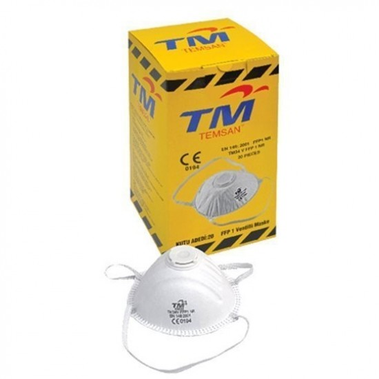 Respirator, 34V FFP1NR, Valved, Breathable Anti Virus Swine Flu, 1 Box 20 Unit