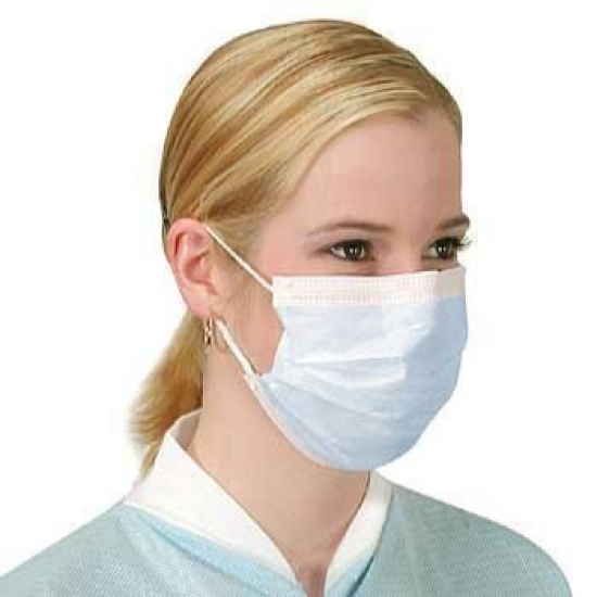 50 x Flu Surgical Face Masks with Earloops Antivirus and Pollution Protection, 1box x 50 Unit