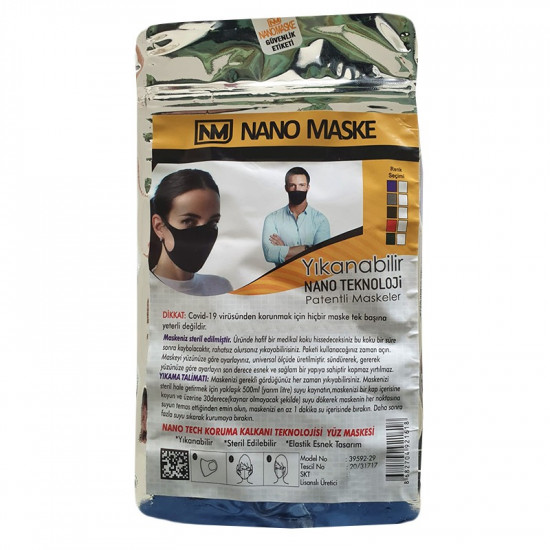 Nano Technology Washable Cloth Mask, Foam Nano Filter Technology Fabric Mask, 25 masks, Red