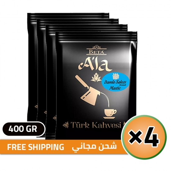 Beta A'la Turkish Coffee Mystic flavored, Traditional Turkish Coffee, FREE SHIPPING, 4 × 100, 400 gr