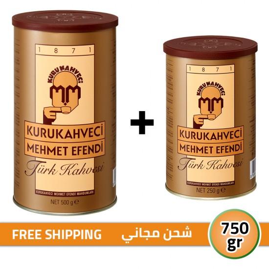 Turkish Coffee, Mehmet Efendi Turkish Coffee, Luxurious Taste, FREE SHIPPING, 250 + 500, 750 gr