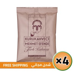 Turkish Coffee, Mehmet Efendi Turkish Coffee, Luxurious Taste, FREE SHIPPING, 4 × 100, 400 gr